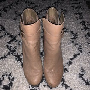 Vince Camuto tan leather ankle boots